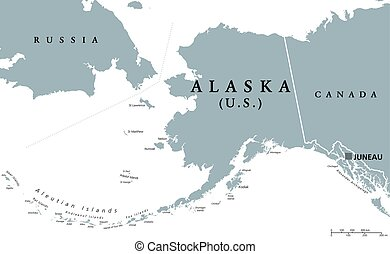 Alexander island clip art vector and illustration 12 alexander alaska us state political map alaska political map with sciox Images