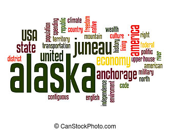 Alaska word cloud