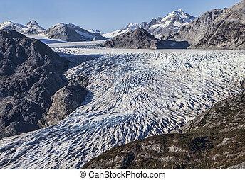 Alaskan glacier aerial