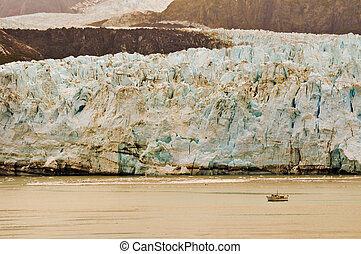 Alaskan Glacier and Boat