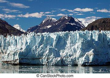 Alaskan Glacier and Peaks - Photo of glacier and surrounding...