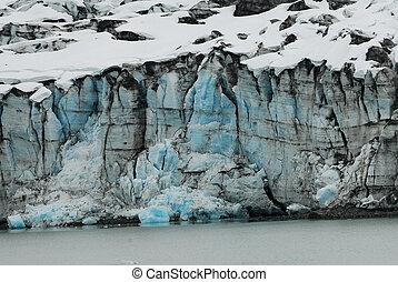 Alaskan glacier.