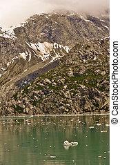 Alaskan Glacier with iceberg in water
