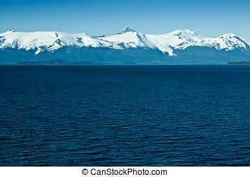 Alaskan Mountain Range outside Ketchikan