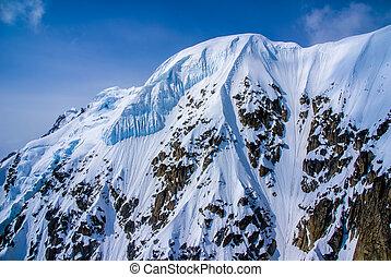 Alaskan Snowcapped Mountain Peak