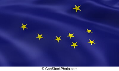 alaskan, vlag, wind
