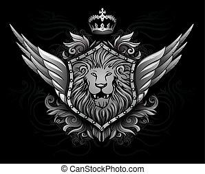 alato, insegne, leone