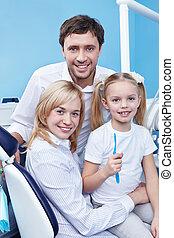 alatt, a, fogászati, klinika