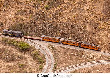 Train Ride In South America - Alausi, Ecuador - 08 December...