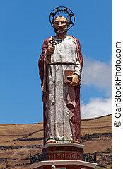 alausi, peter, ecuador, santo, monumento