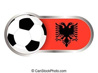 albánia, jelvény, futballcsapat