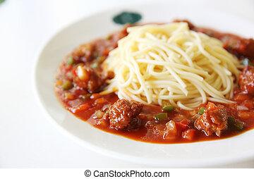 albóndigas de espagueti