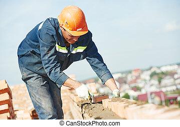 albañil, trabajador construcción, albañil