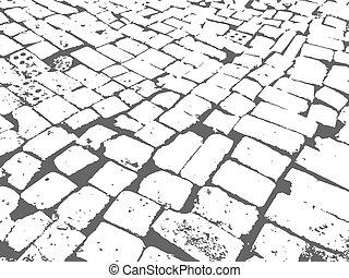 albañilería, pavimentar
