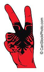 albański, pokój, Bandera, znak