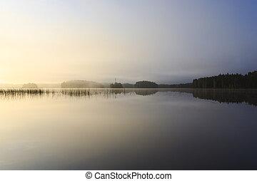 alba, a, il, lago