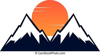 alba, -, montagna, tramonto, cima, montagne