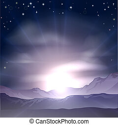 alba, o, tramonto, concetto