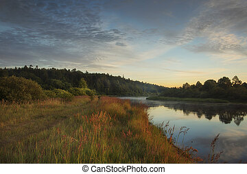 alba, paesaggio