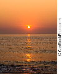 alba, sopra, oceano