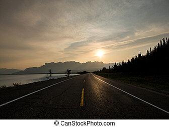 alba, su, autostrada, 16
