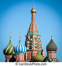 albahaca, russia., s., catedral, moscú