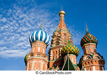 albahaca, russia., s., cathedral., moscow.