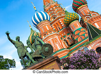 albahaca s., catedral, en, moscú, russia.