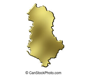Albania 3d Golden Map