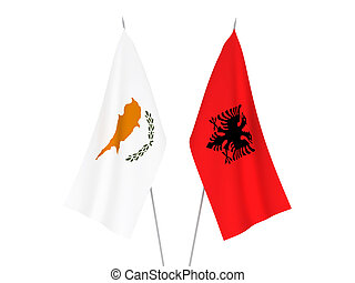 Albania and Cyprus flags - National fabric flags of Albania ...