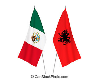 Albania and Mexico flags - National fabric flags of Albania ...