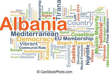 Albania background concept