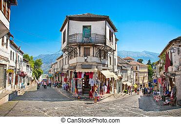albania., cena rua, gjirokaster