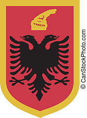 Albania - Vector illustration with coat of arms of Albania...