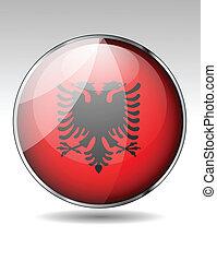 Albania flag button