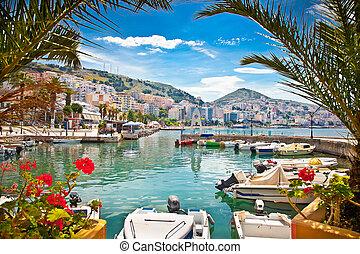 albania., ionian, saranda's, sea., hafen