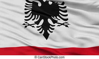 Albania Naval Ensign Flag Closeup Seamless Loop