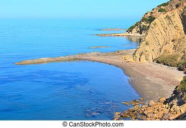albania), rano, morze, brzeg