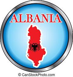 Albania Round Button