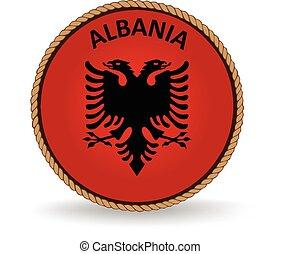 Albania Seal - Flag seal of Albania.