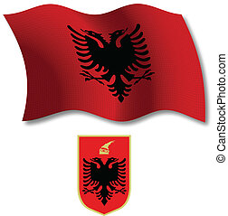 albania textured wavy flag vector
