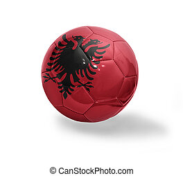 Albanian Football - Football ball with the national flag of ...