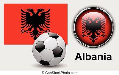 albanie drapeau, icônes