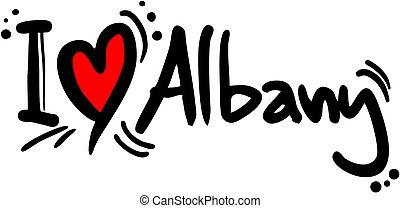albany, amore