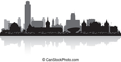 Albany New York city skyline silhouette