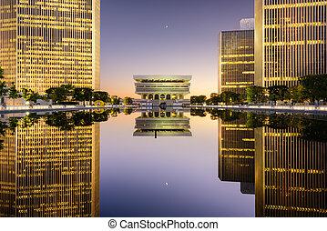 Empire State Plaza - Albany, New York, USA cityscape at...