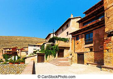 albarracin, pittoresque, town., espagnol