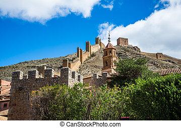 Albarracin's wall, Teruel, Spain.
