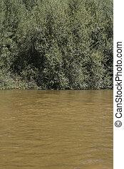 alberche riverbank in Toledo, Castilla La Mancha, Spain