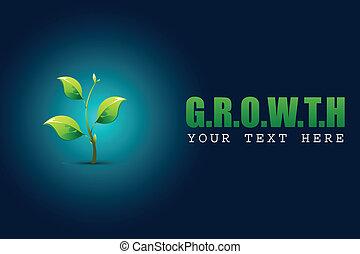 alberello, concetto, crescita
